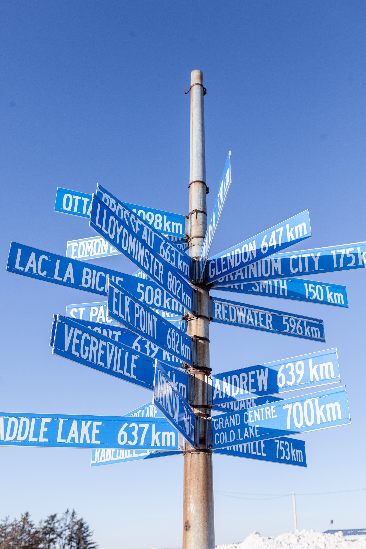 Fort Chipewyan Sign, Oilsands Cancer Story