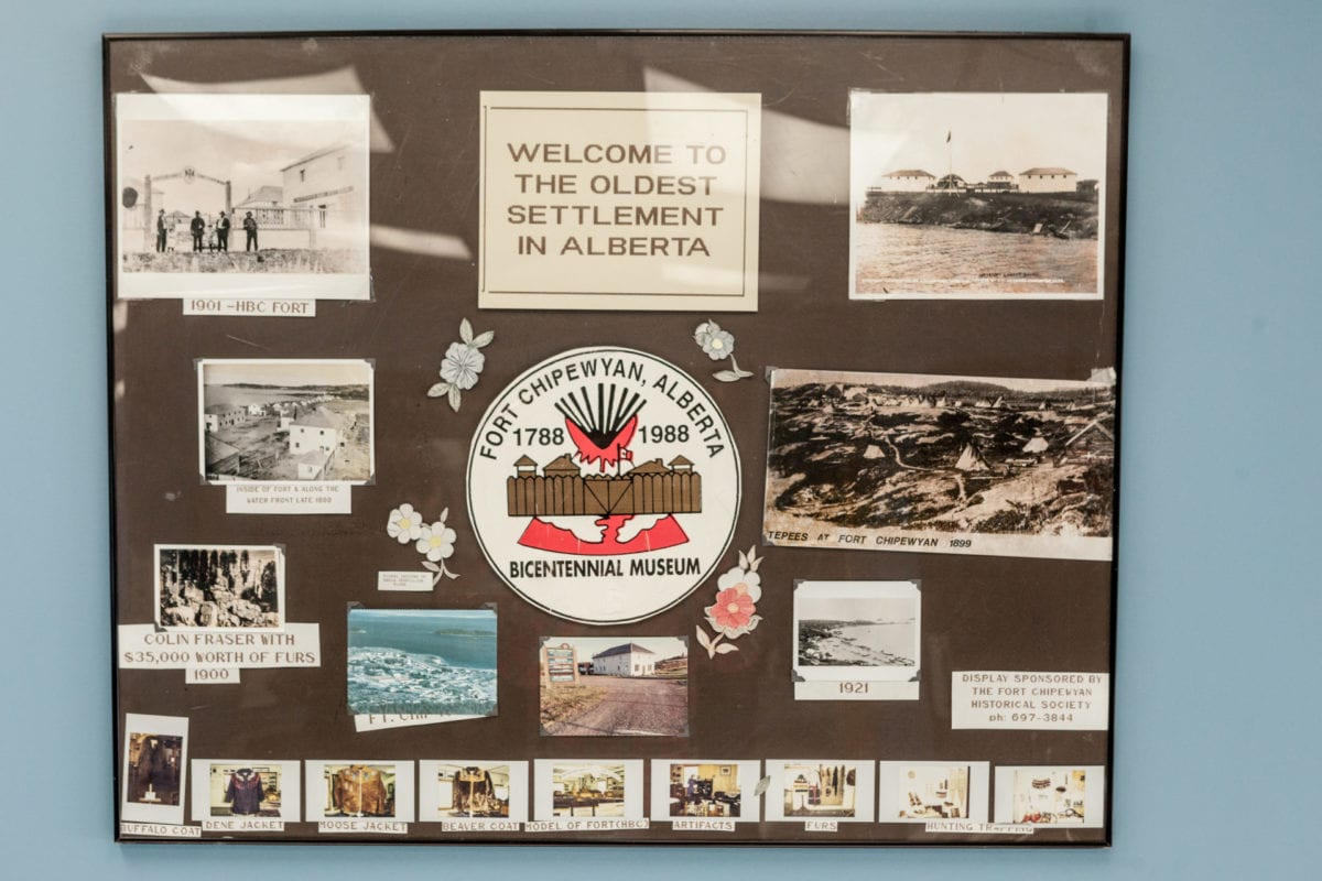 Fort Chipewyan Welcome Sign, Oilsands Cancer Story