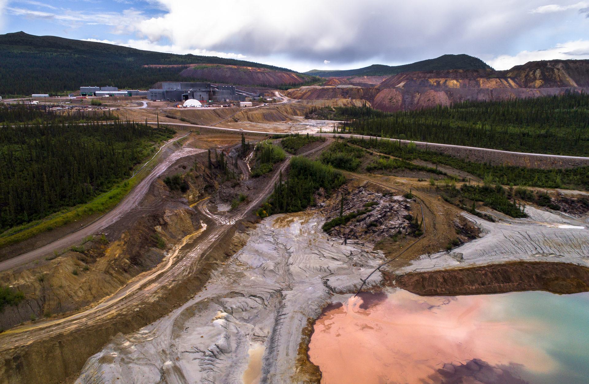 Faro mine tailings
