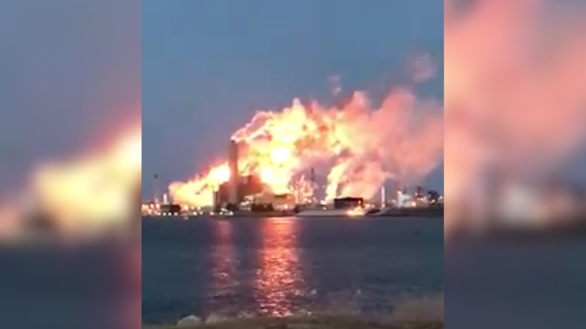 Imperial Oil Refinery Fire
