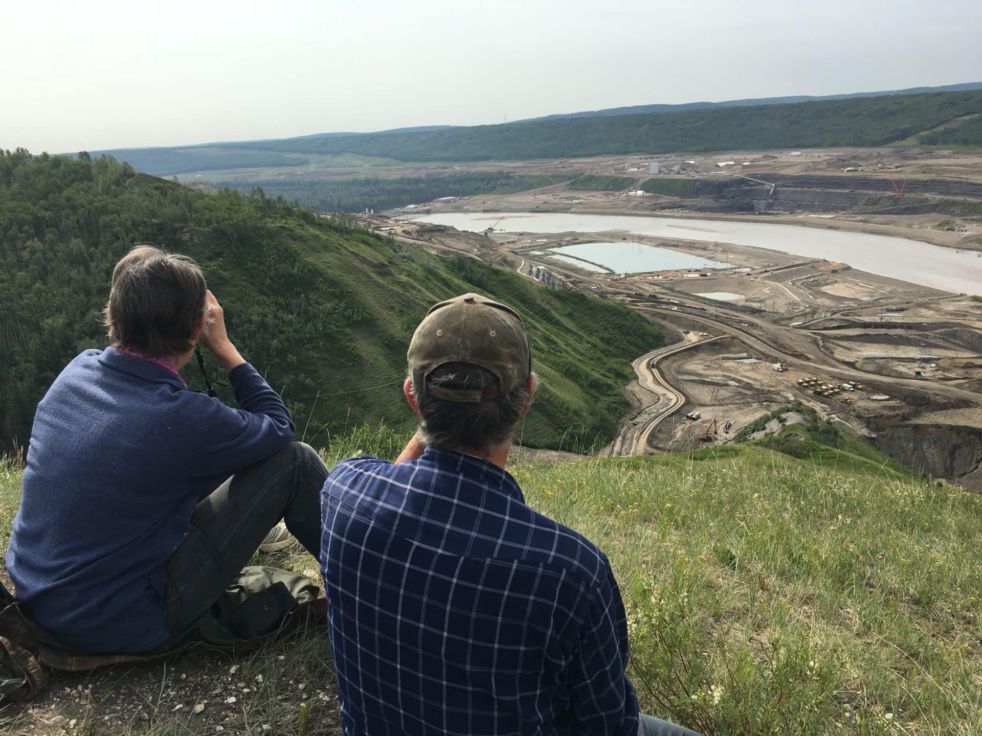 Ken and Arlene Boon overlook the Site C dam