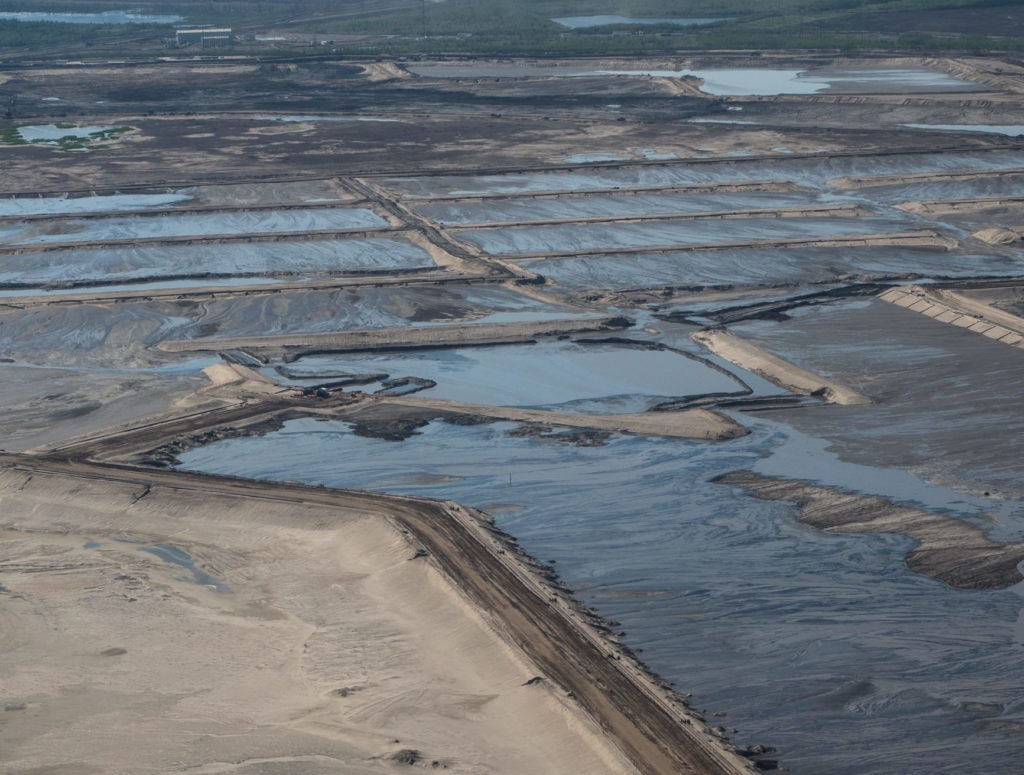 Tailings ponds in Alberta's oilsands