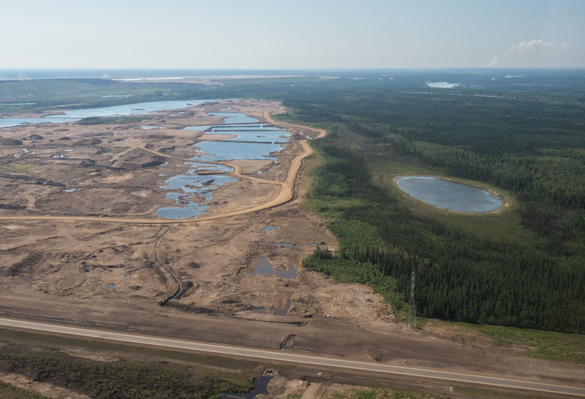 Alberta's oilsands North of Fort McMurray.