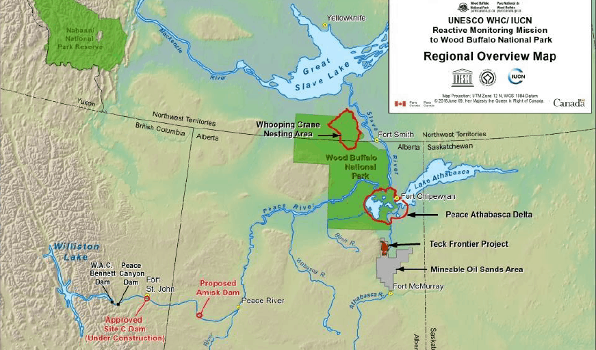 Wood Buffalo National Park map