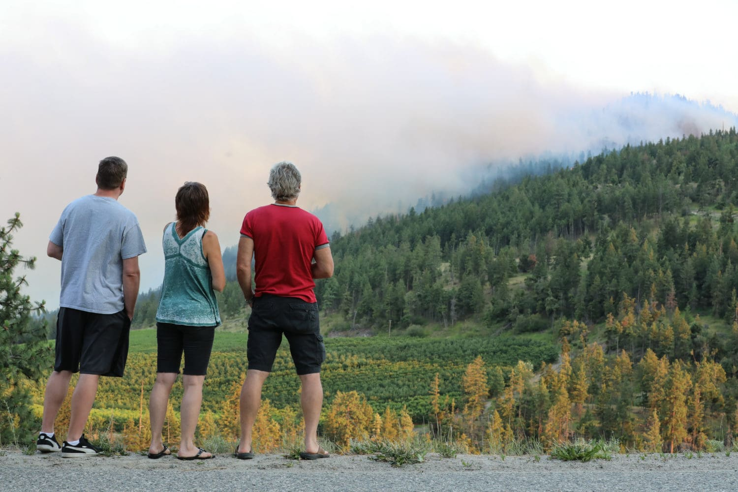 Residents watch Mount Eneas wild fire