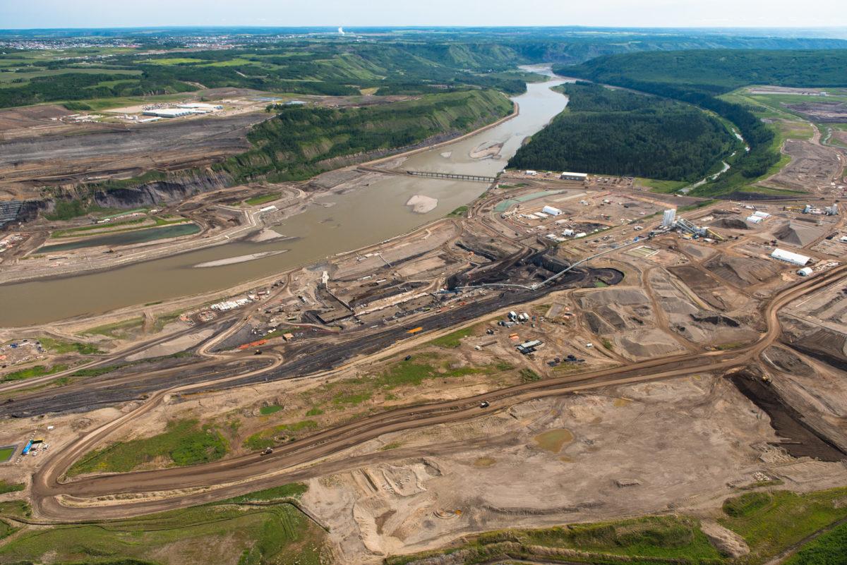 Site C construction. Peace River. B.C.