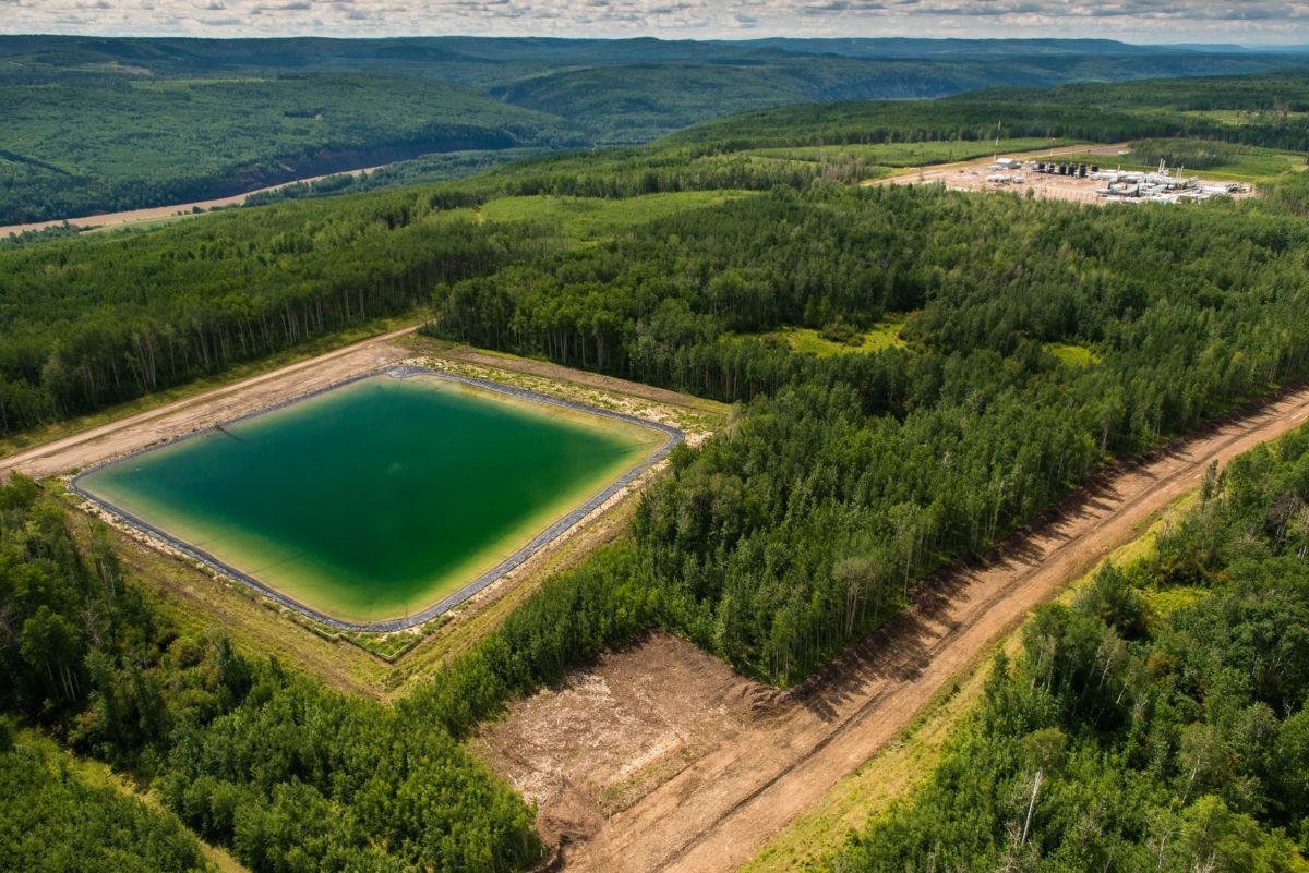 Oil and Gas Development. Near the Pine River. Farmington Area.