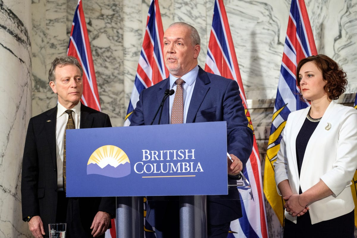 Site C dam announcement John Horgan