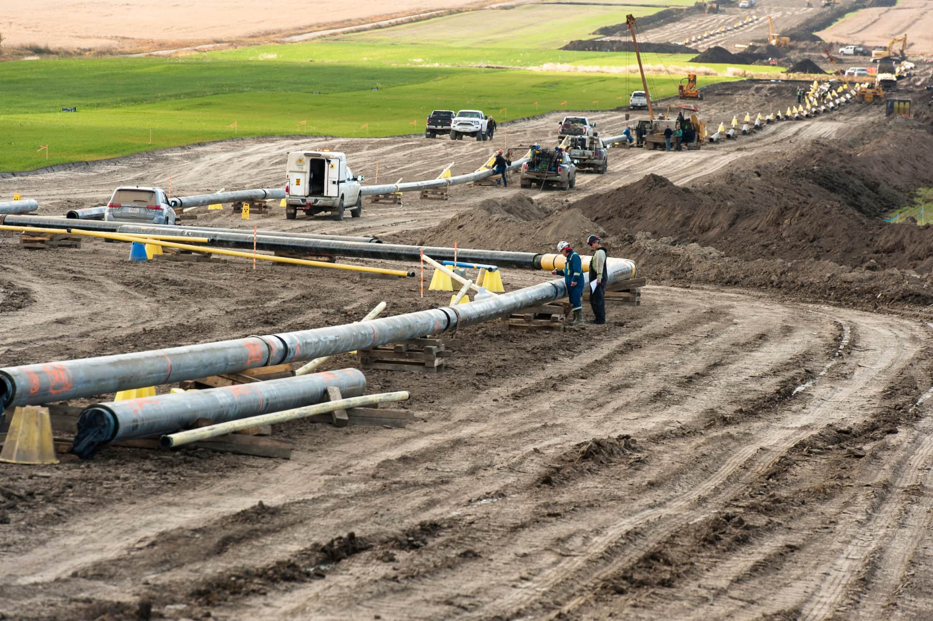 Pipeline construction near Farmington
