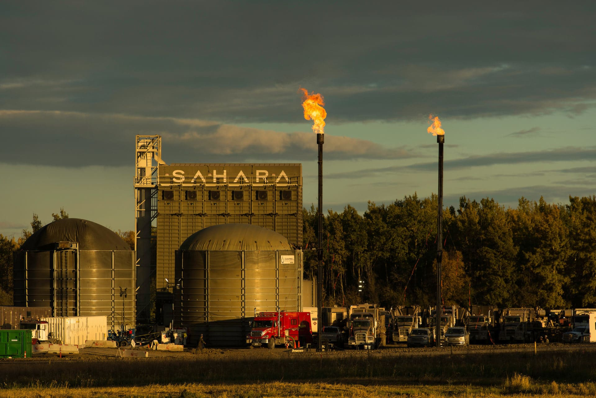 Encana gas well pad