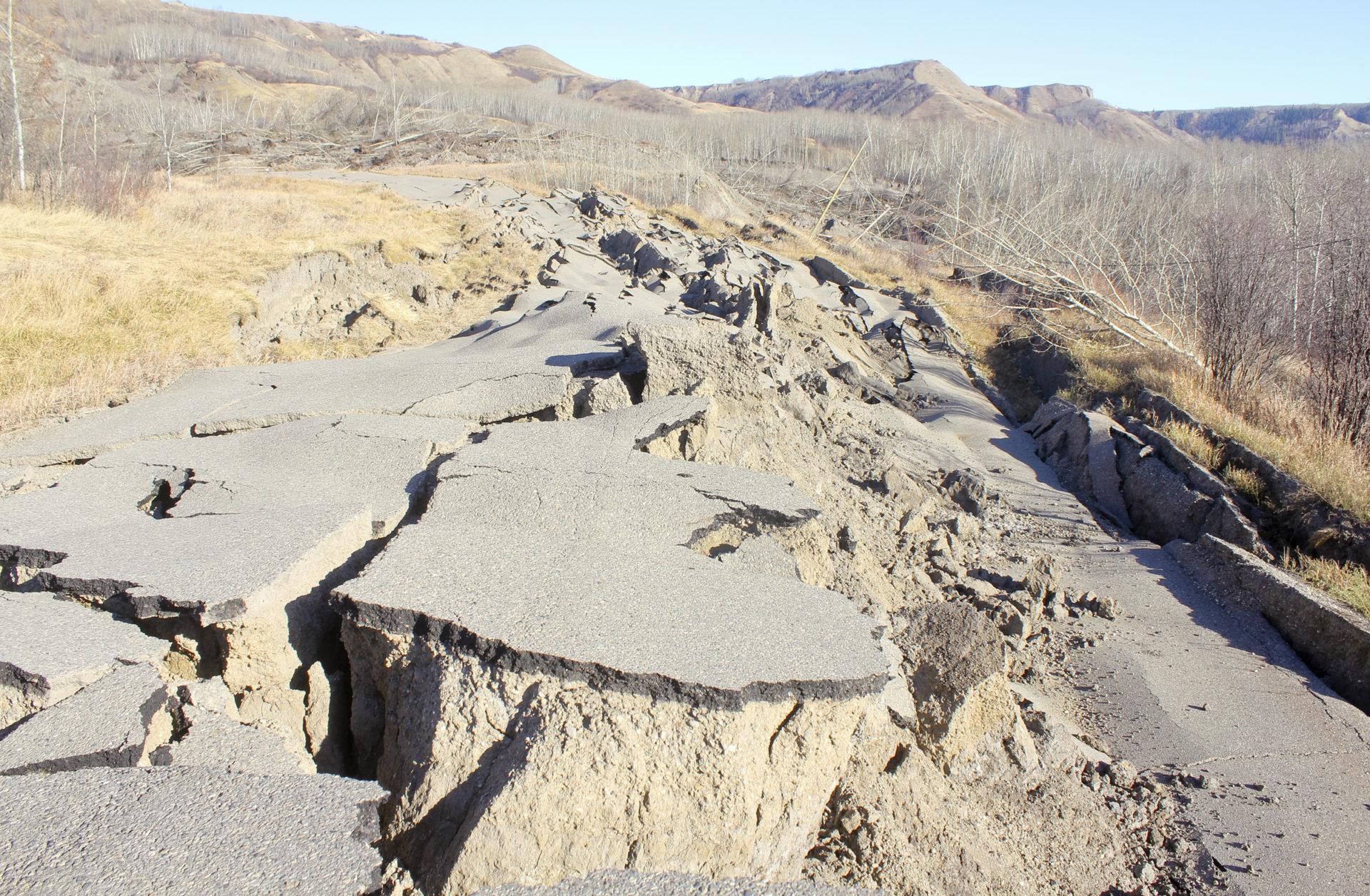 Old Fort Landslide Old Fort Road Damage Matt Preprost