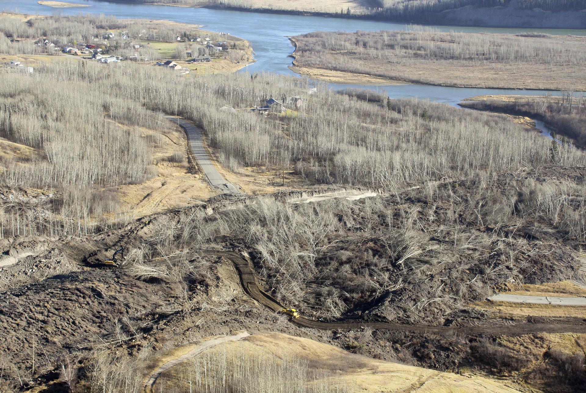Old Fort Landslide road access work Matt Preprost