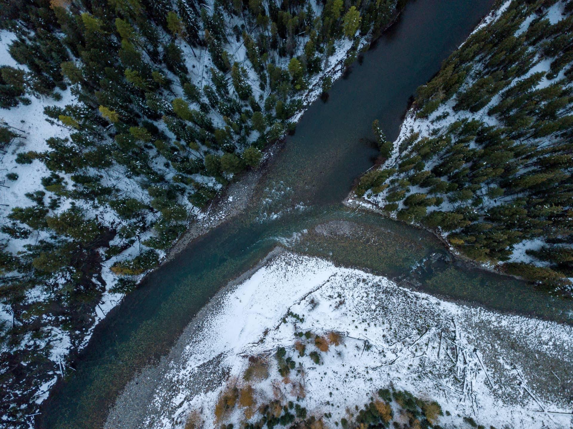 Elk Fording Rivers confluence