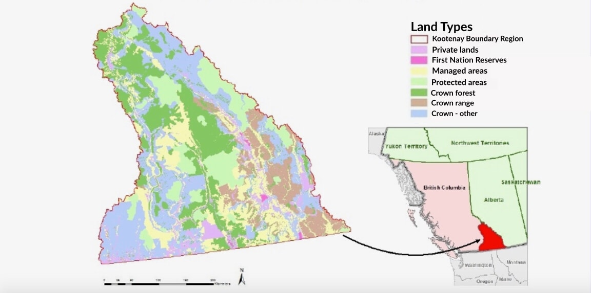 Land tenures in the Kootenay Boundary Region