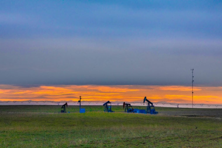 Oil wells in Alberta
