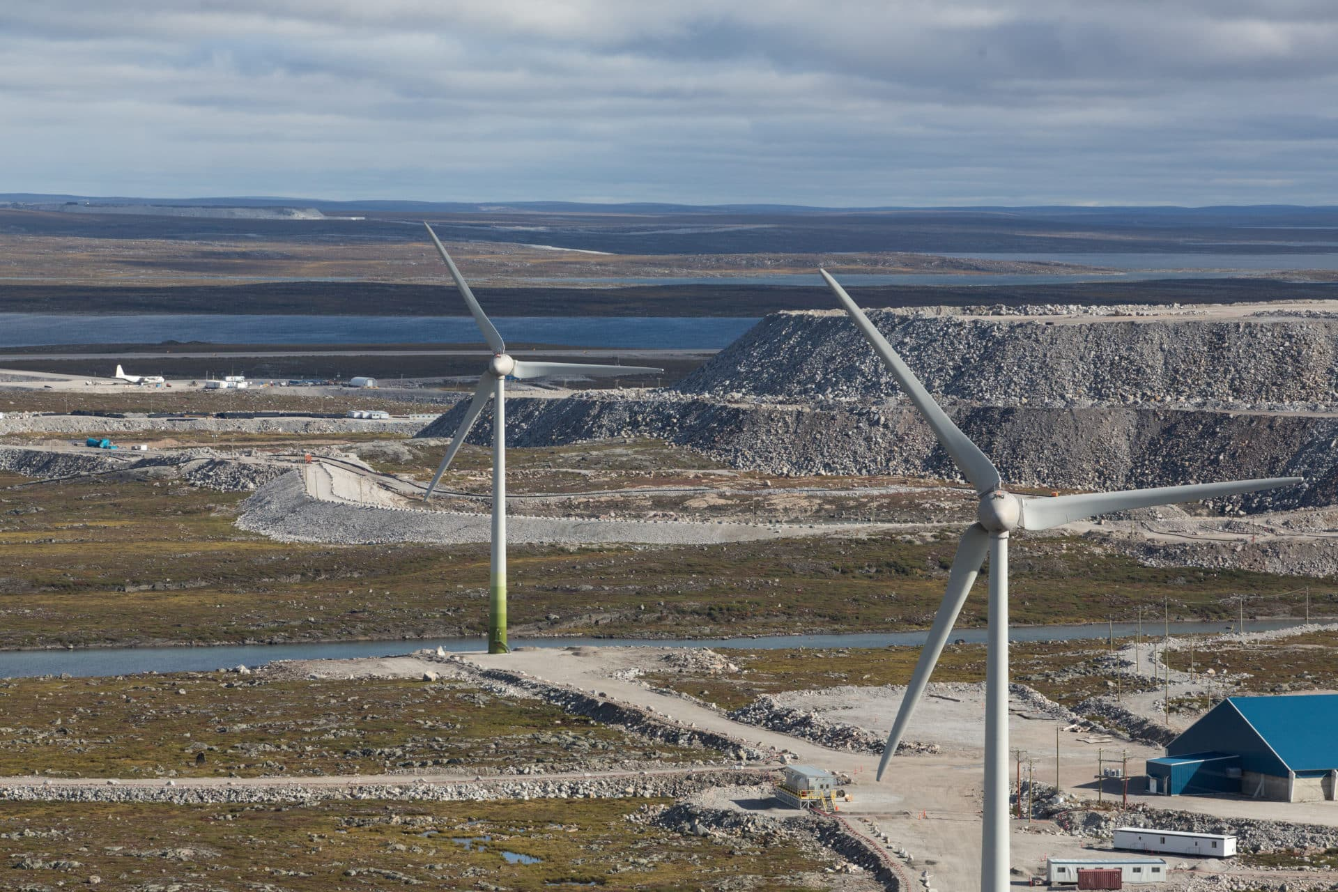 Wind farm at Diavik diamond mine