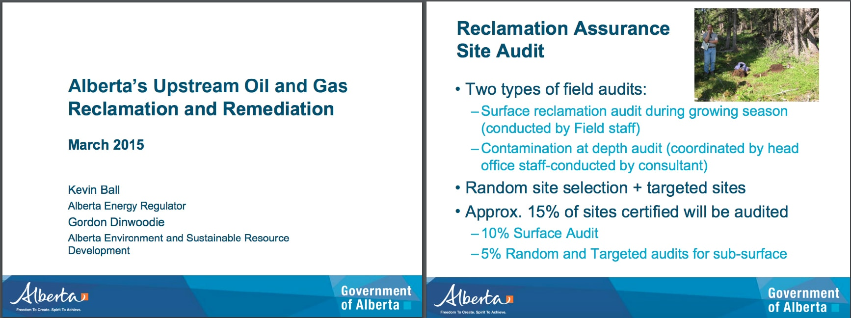 Alberta Audit Presentation to Landowners