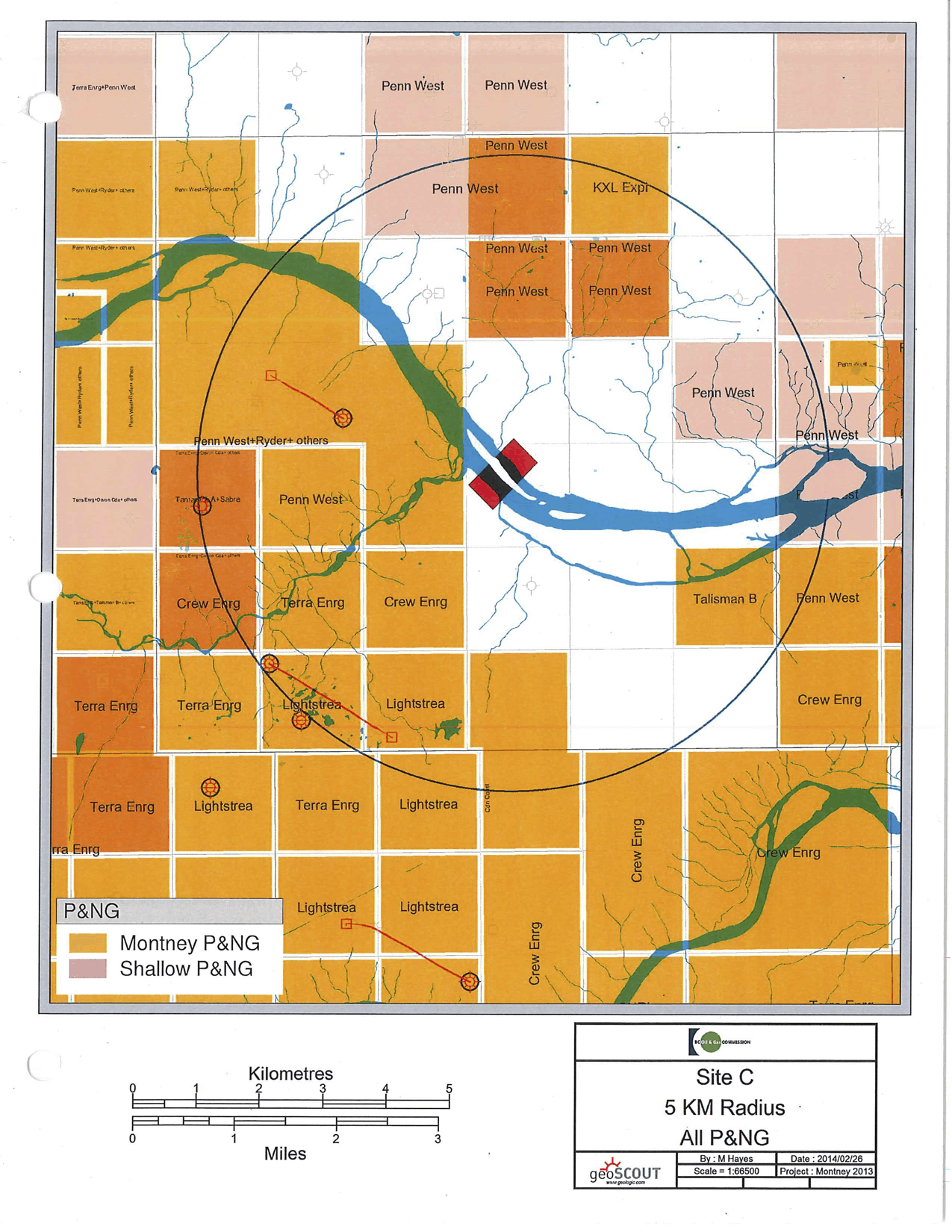 Oil and gas leases Site C dam