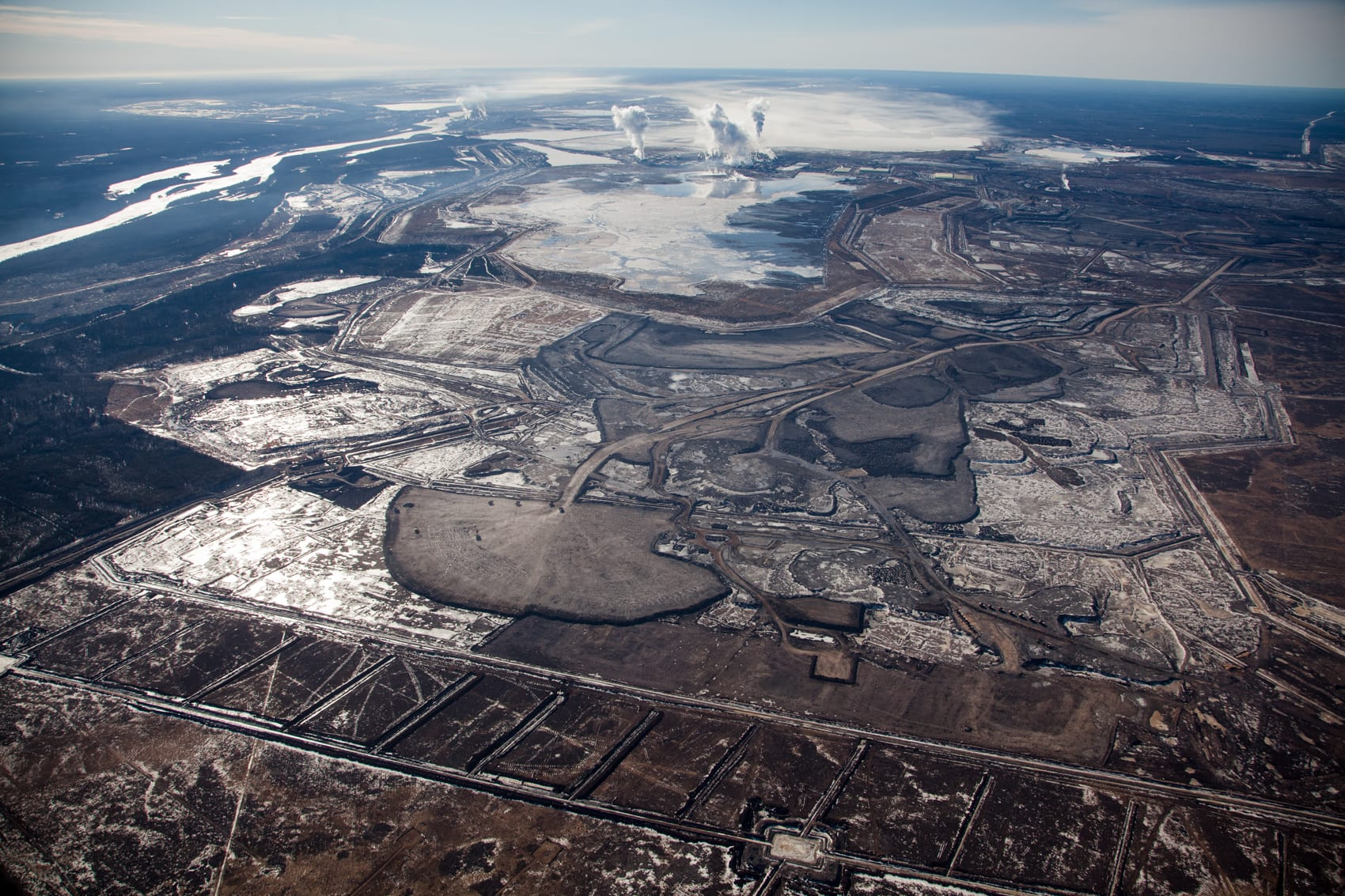 Alex MacLean Oilsands 6 Syncrude Mildred Lake Mining Site