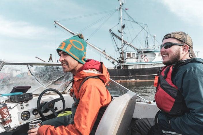 Raincoast Steveson jetty salmon connectivity