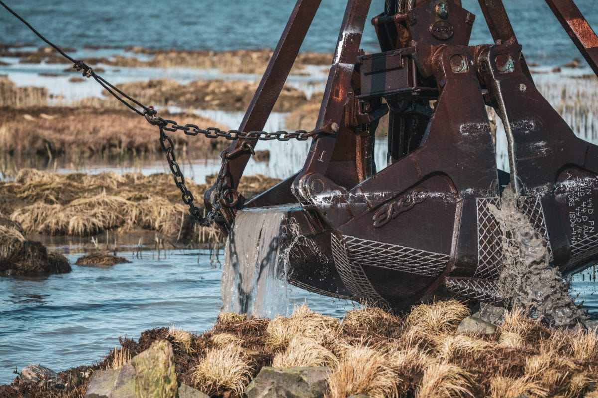 Clamshell digger Steveston jetty Raincoast