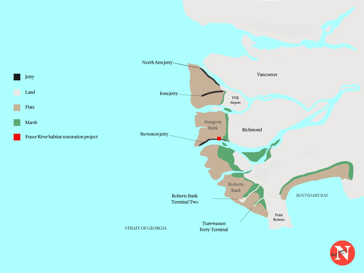 Fraser River restoration project salmon Raincoast Conservation Foundation Map The Narwhal-100