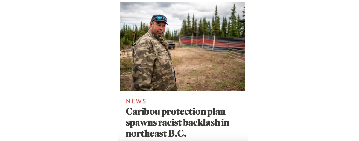 Caribou protection plan spawns racist backlash in northeast B.C.