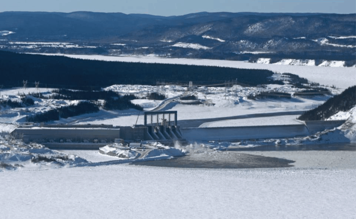 Muskrat Falls dam construction Feb 2019