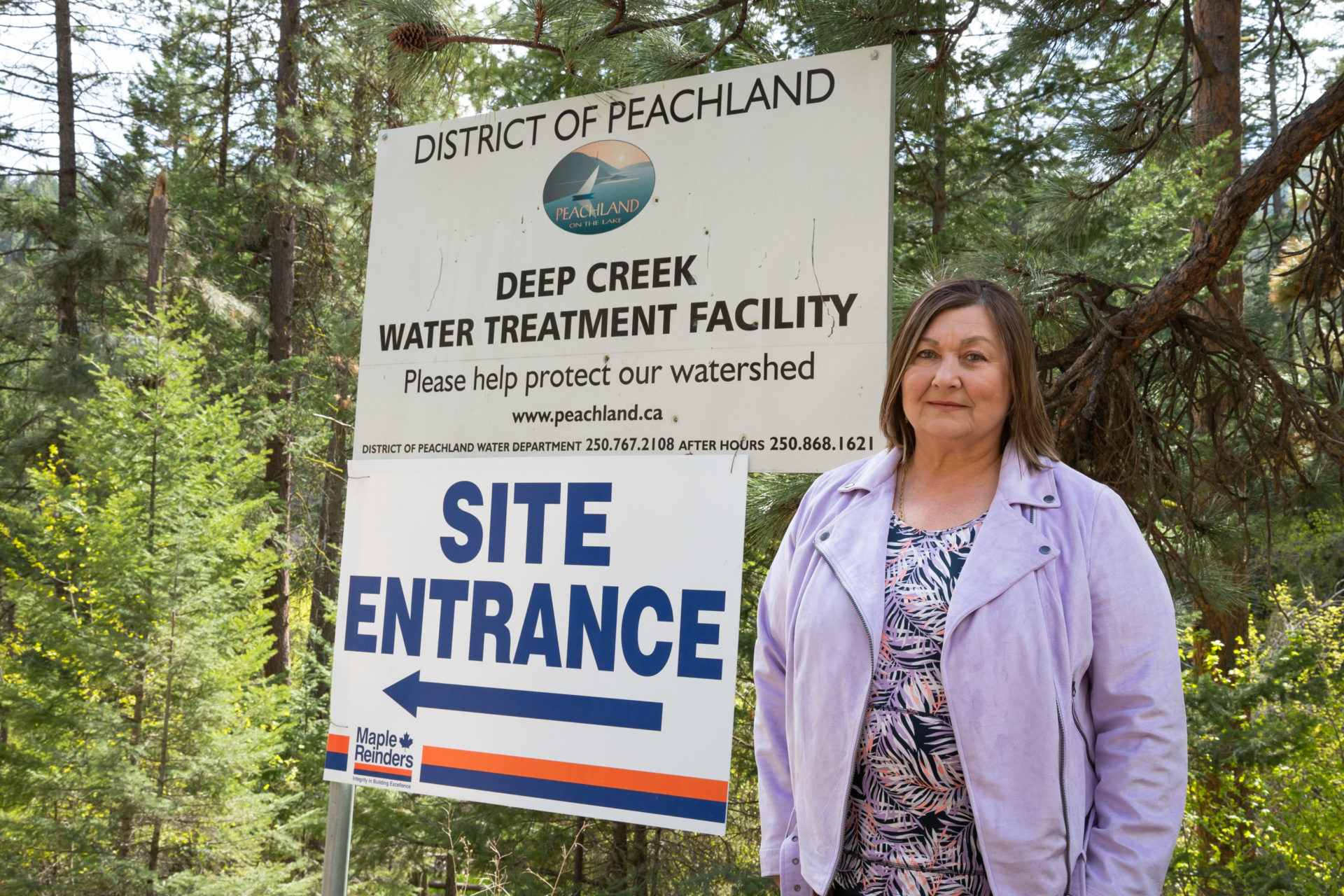 Taryn Skalbania, Deep Creek Water Treatment Plant located on McDougald Rd, Peachland, photo by Travis Oleniak