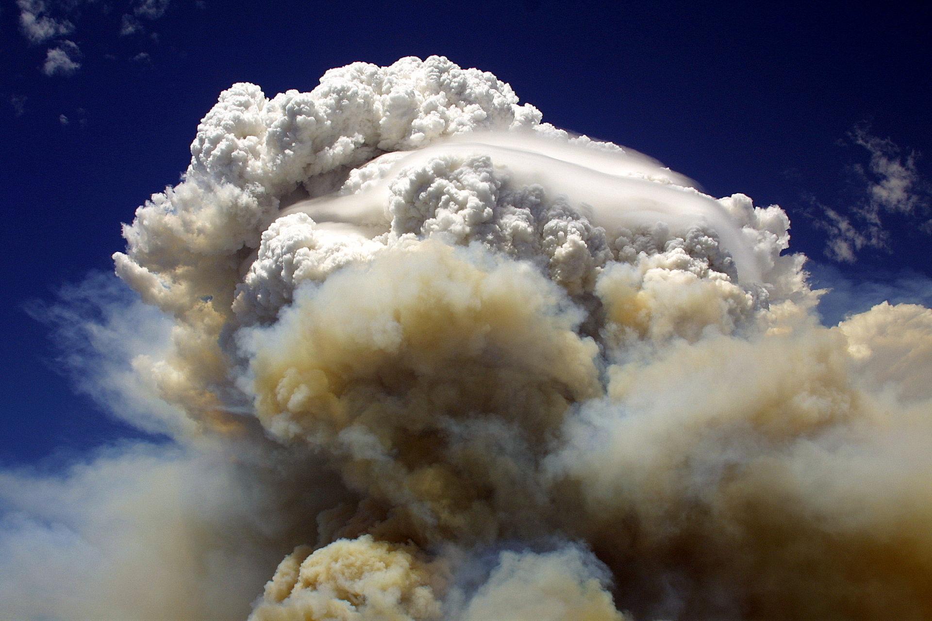 A pyrocumulonimbus cloud