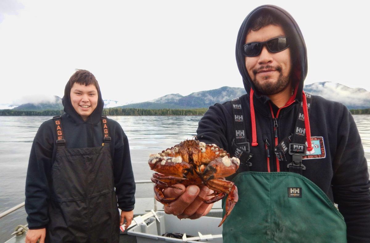 Fisheries technicians from Lax Kw'alaams Fisheries Stewardship program