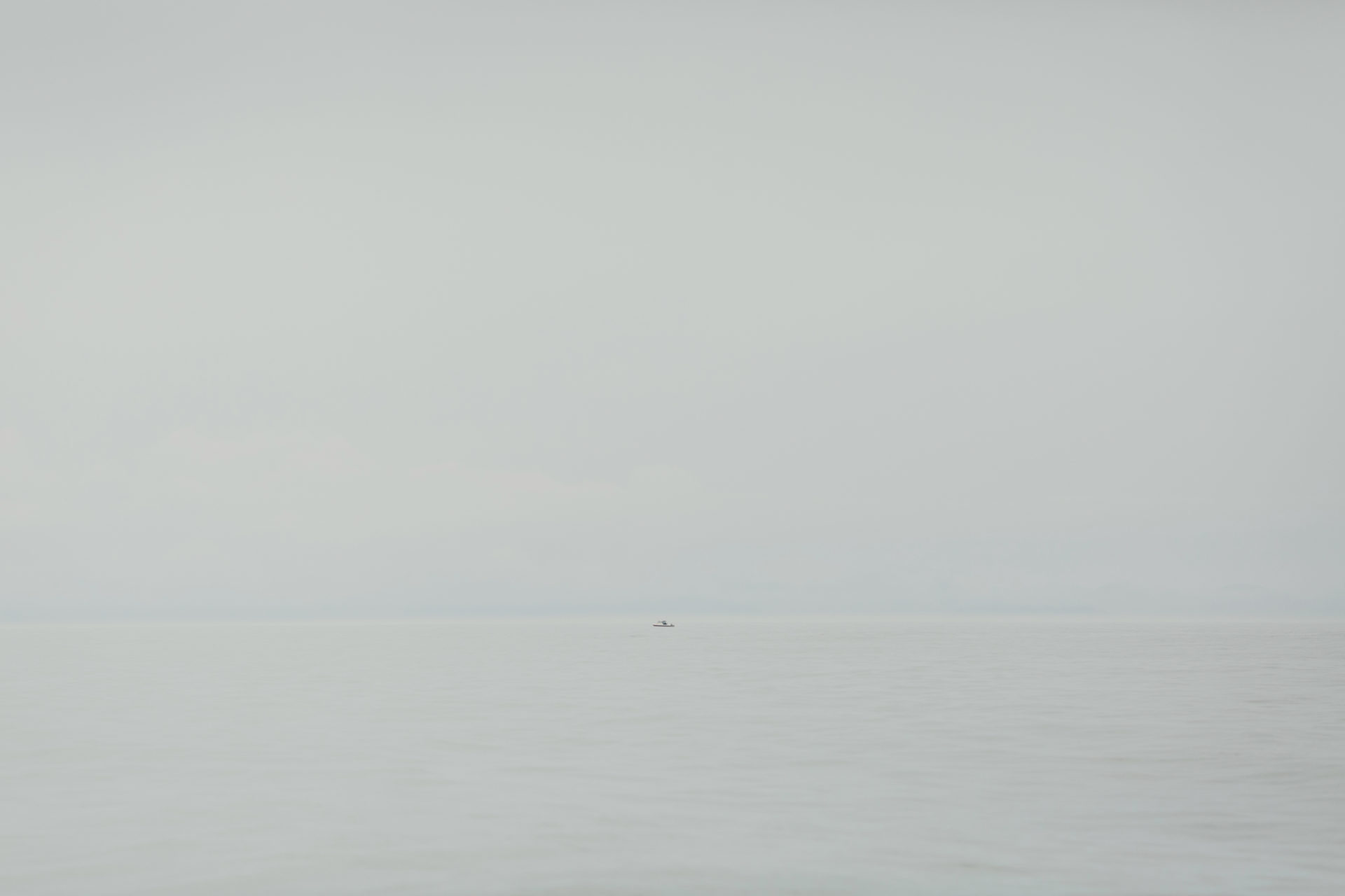Lone fishing boat