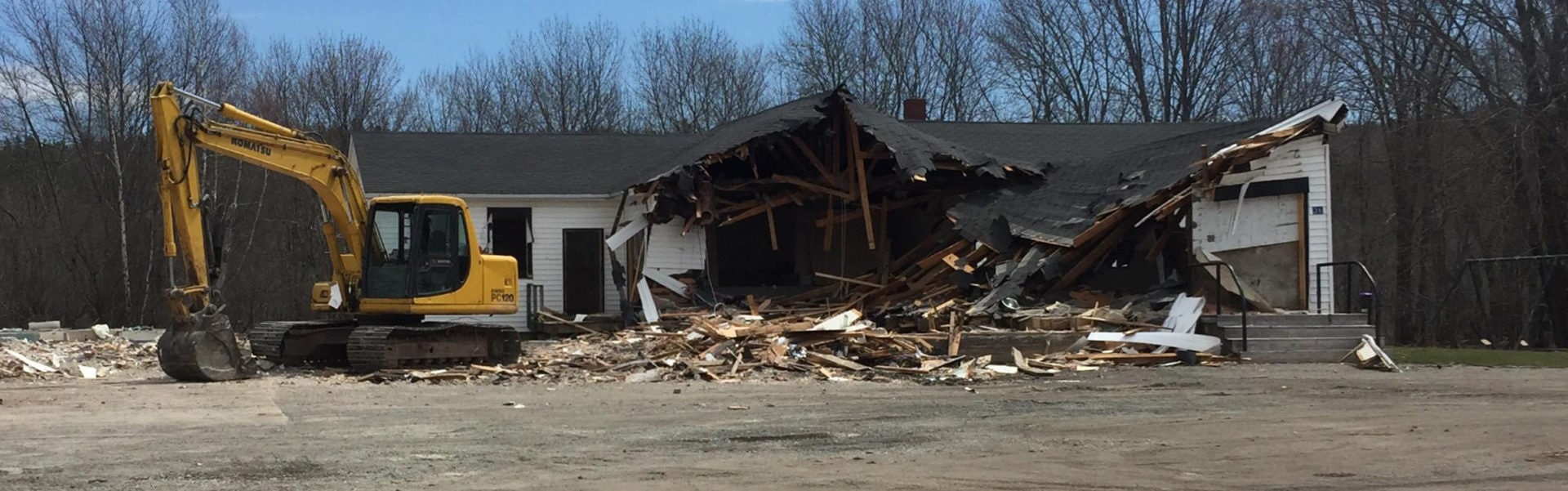 Nauwidgewauk Demolition May 2019 New Brunswick
