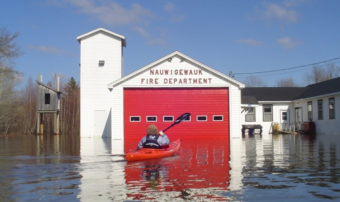 Nauwidgewauk Fire Hall Flooding 2018 New Brunswick