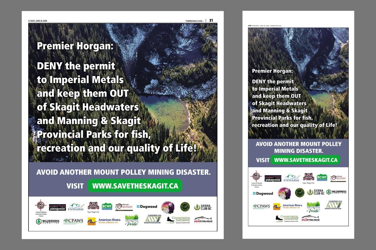 Skagit Headwaters Imperial Metals Vancouver Sun Province John Horgan