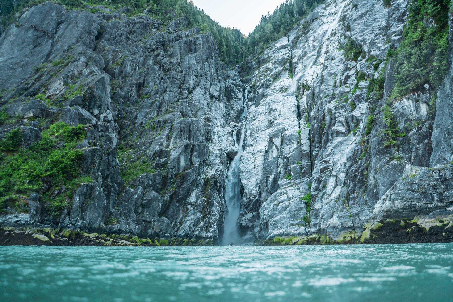 Waterfall in Gardner Canal, British Columbia