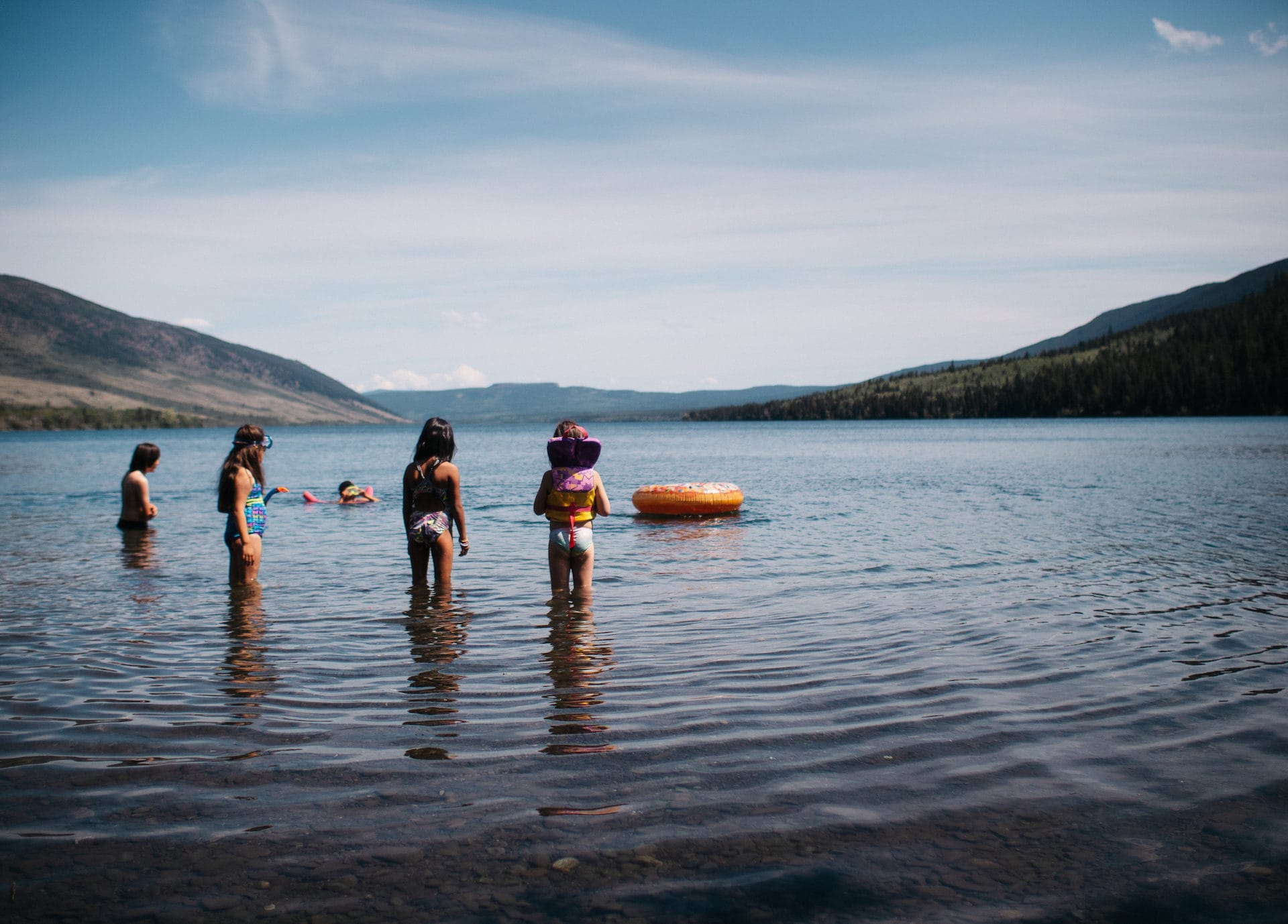 Nemiah Valley Konni Lake swimming Louis Bockner Taseko New Prosperity Tsilhqot'in Nation