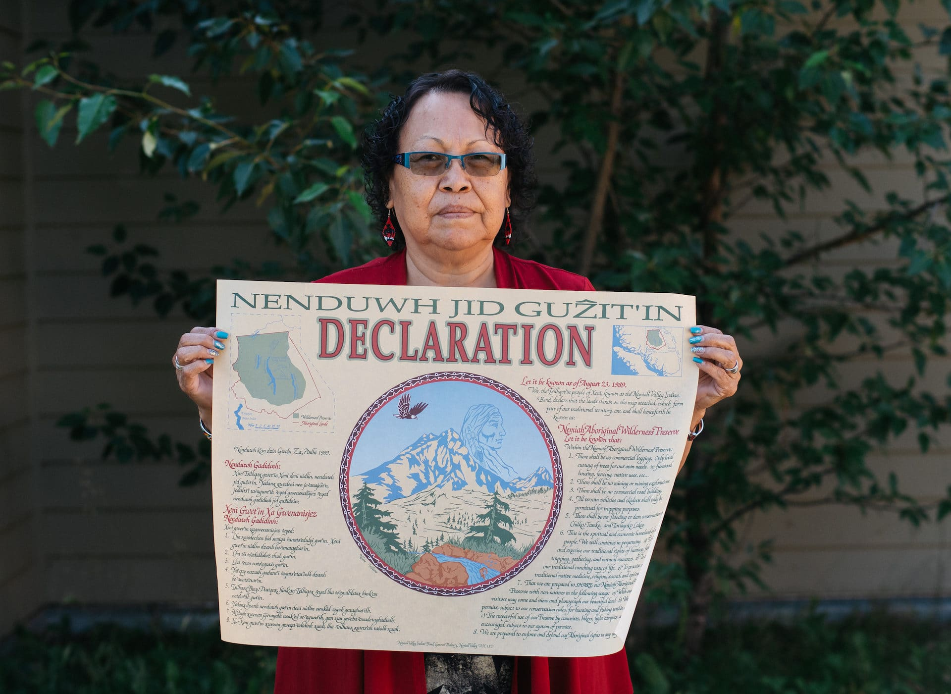 Annie Williams Xeni Gwet'in Nemiah Declaration of 1988 Louis Bockner Taseko New Prosperity Tsilhqot'in Nation
