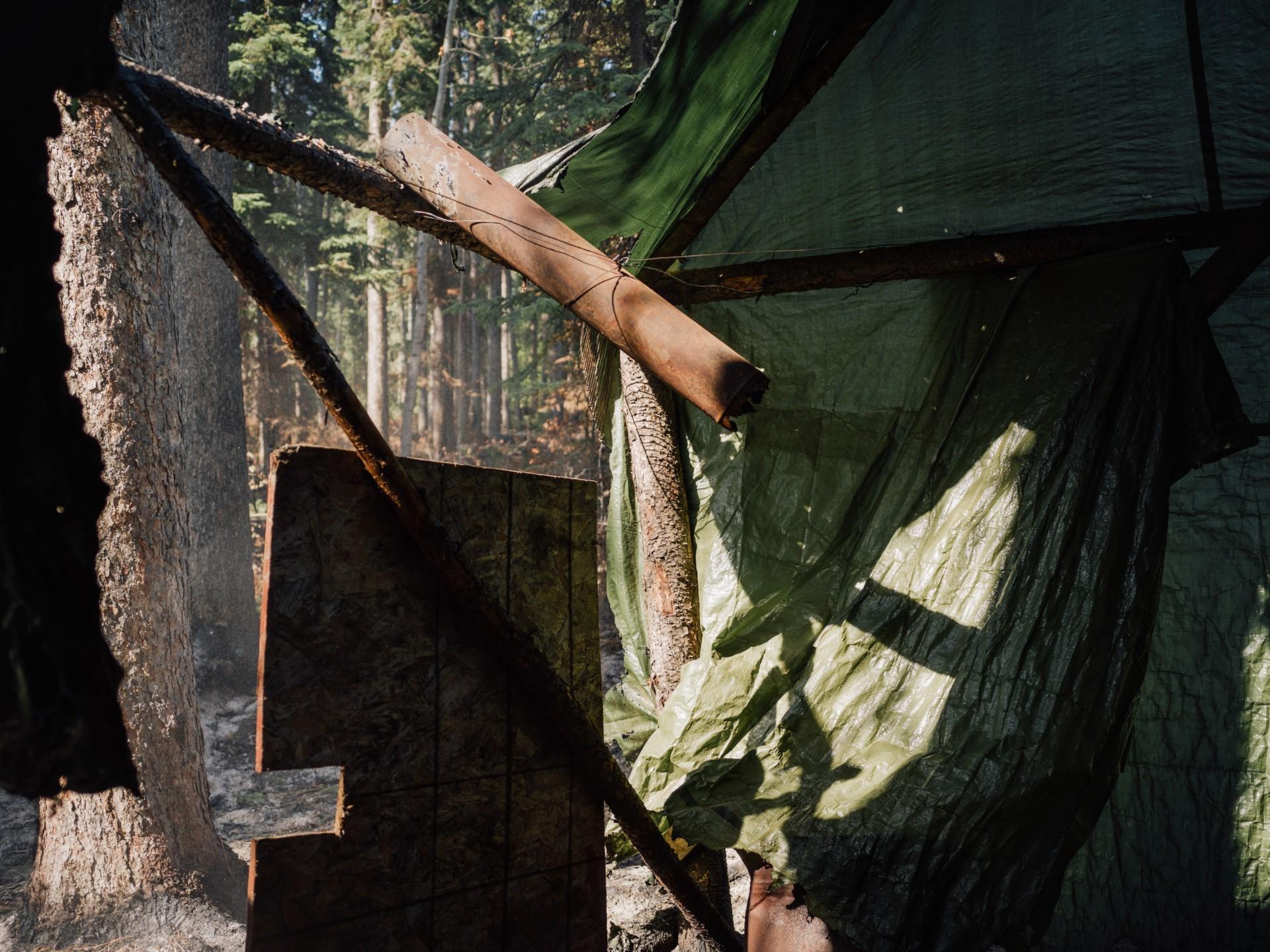 Hunting camp fire Kechika River Kaska guardians Taylor Roades