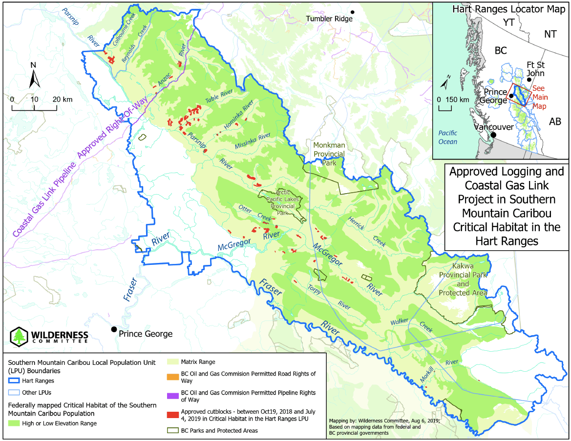 Map of logging in Hart Ranges