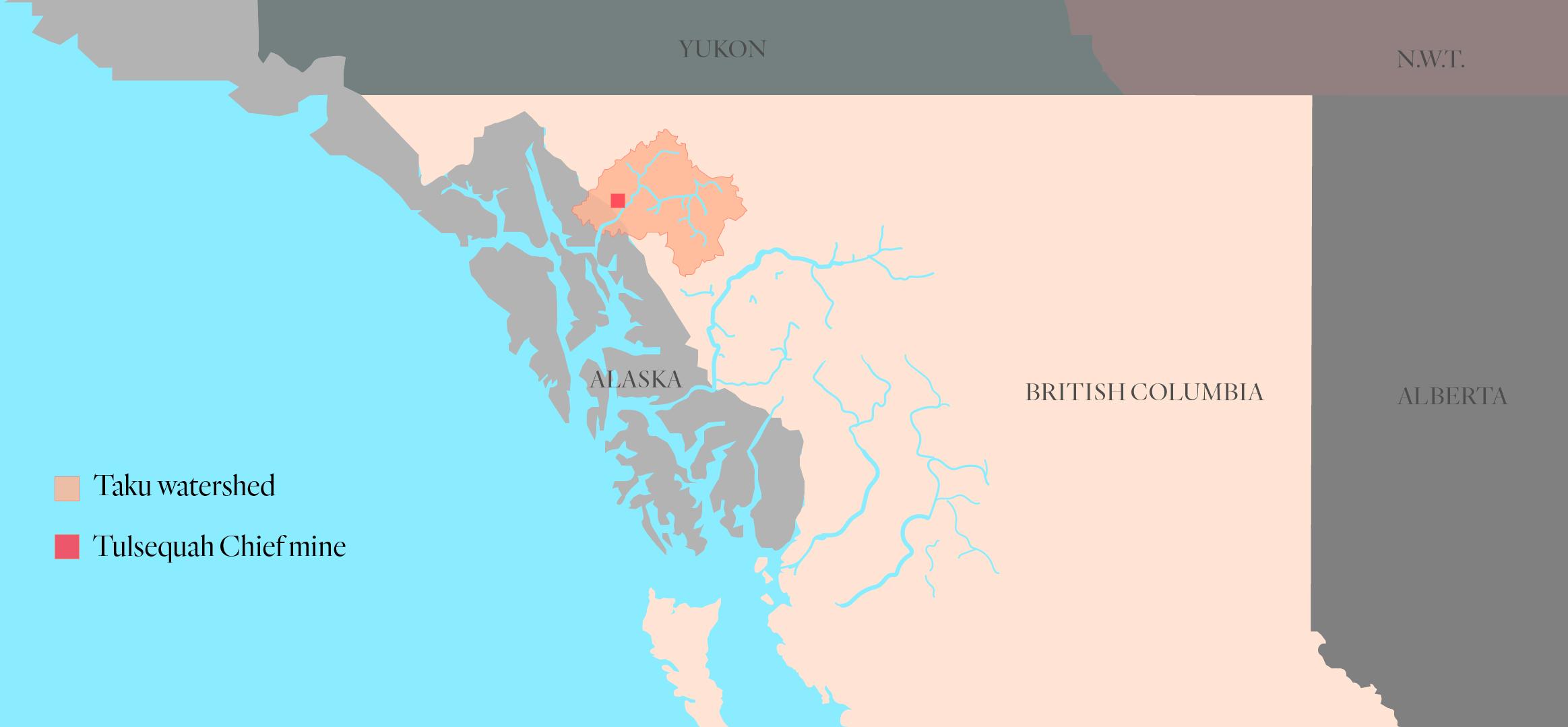 Tulsequah Chief mine map