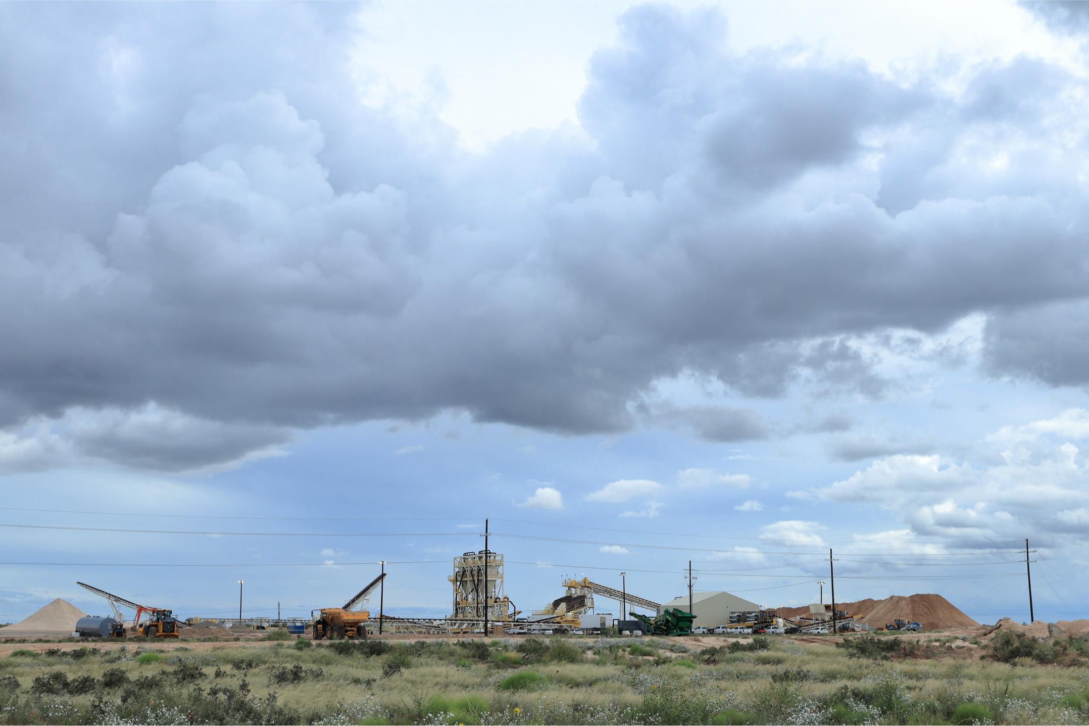 Mining frac sand in West Texas.