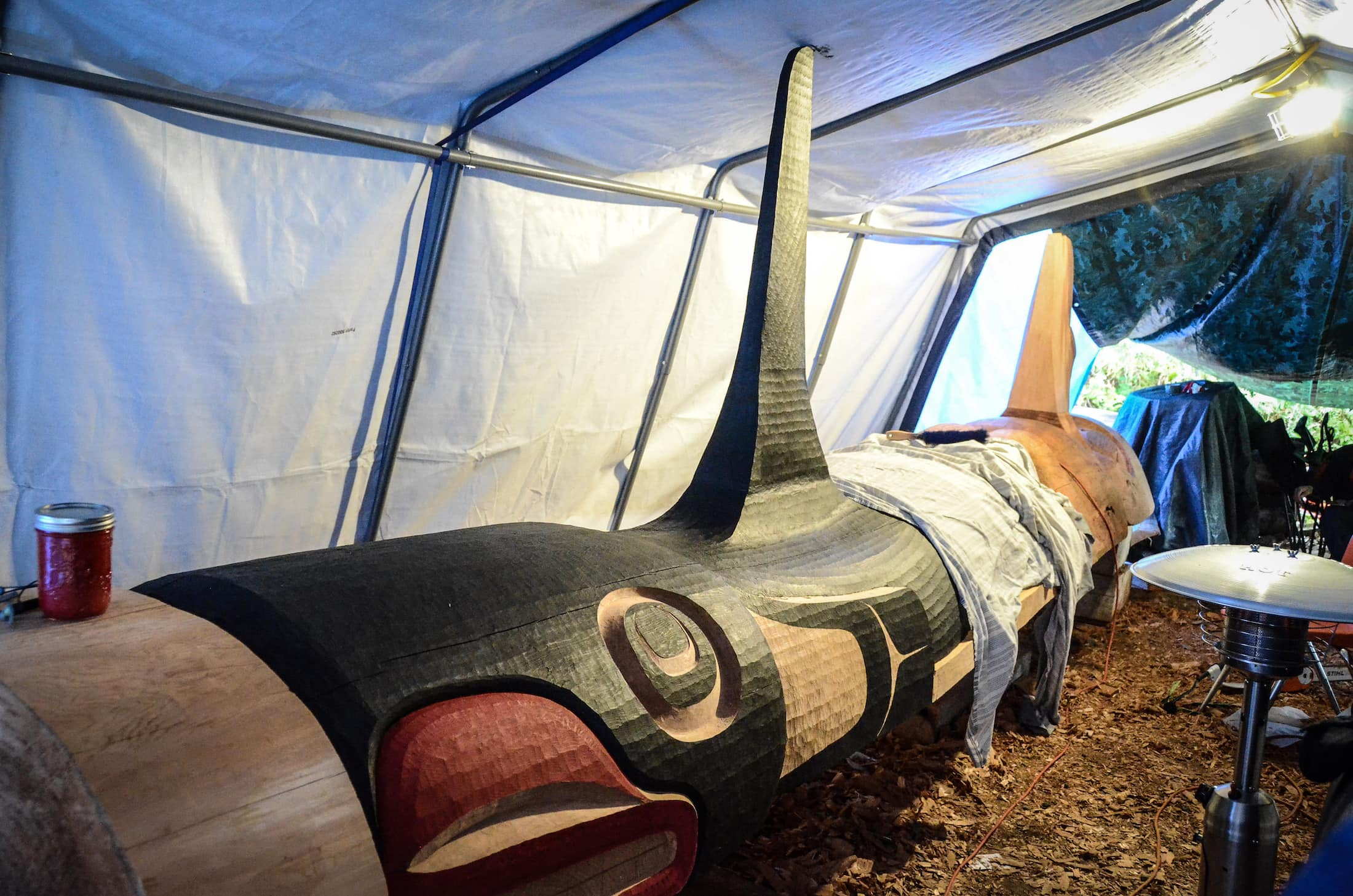 Heiltsuk big house post