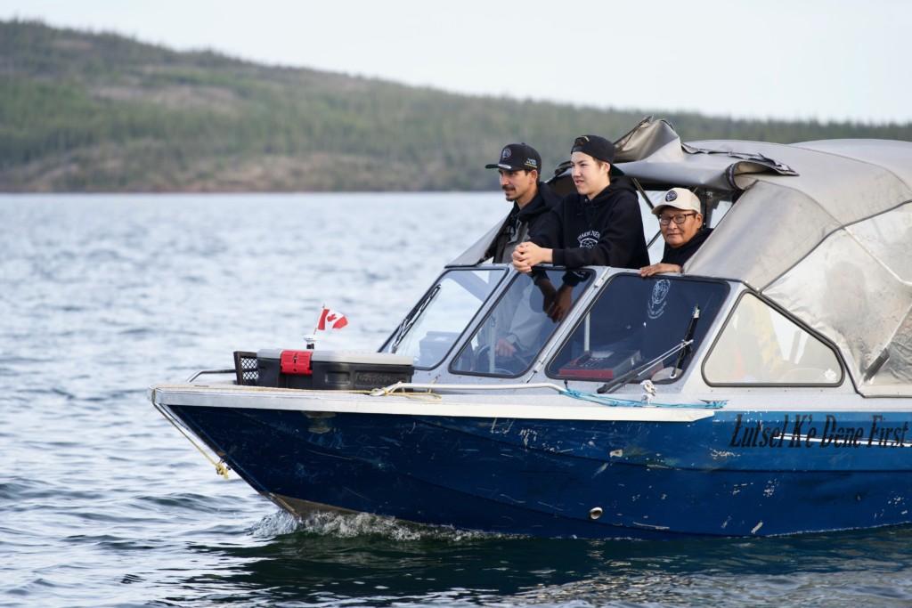 Ni Hat'ni rangers on a boat