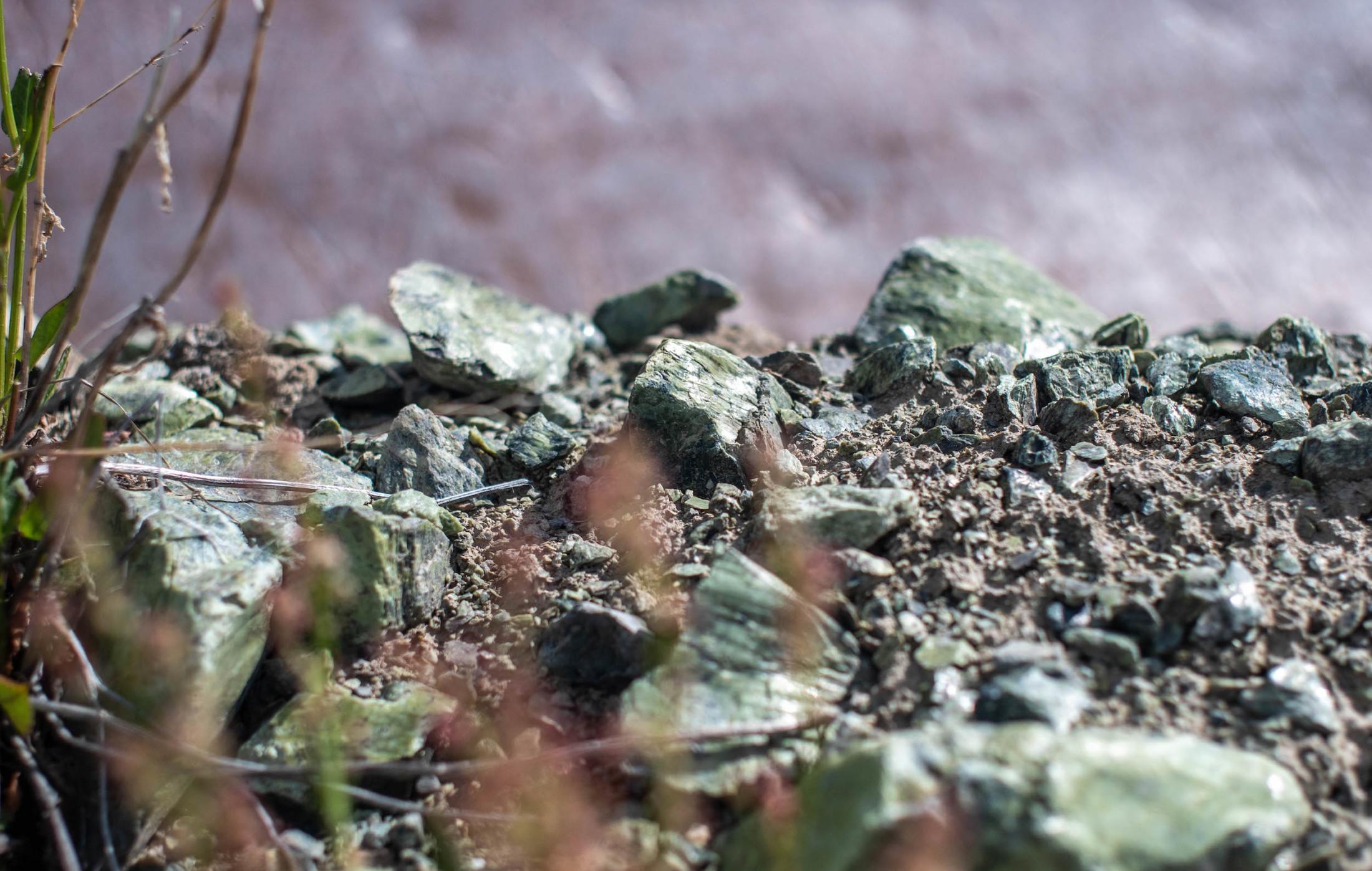 Jade rocks in Tahltan territory