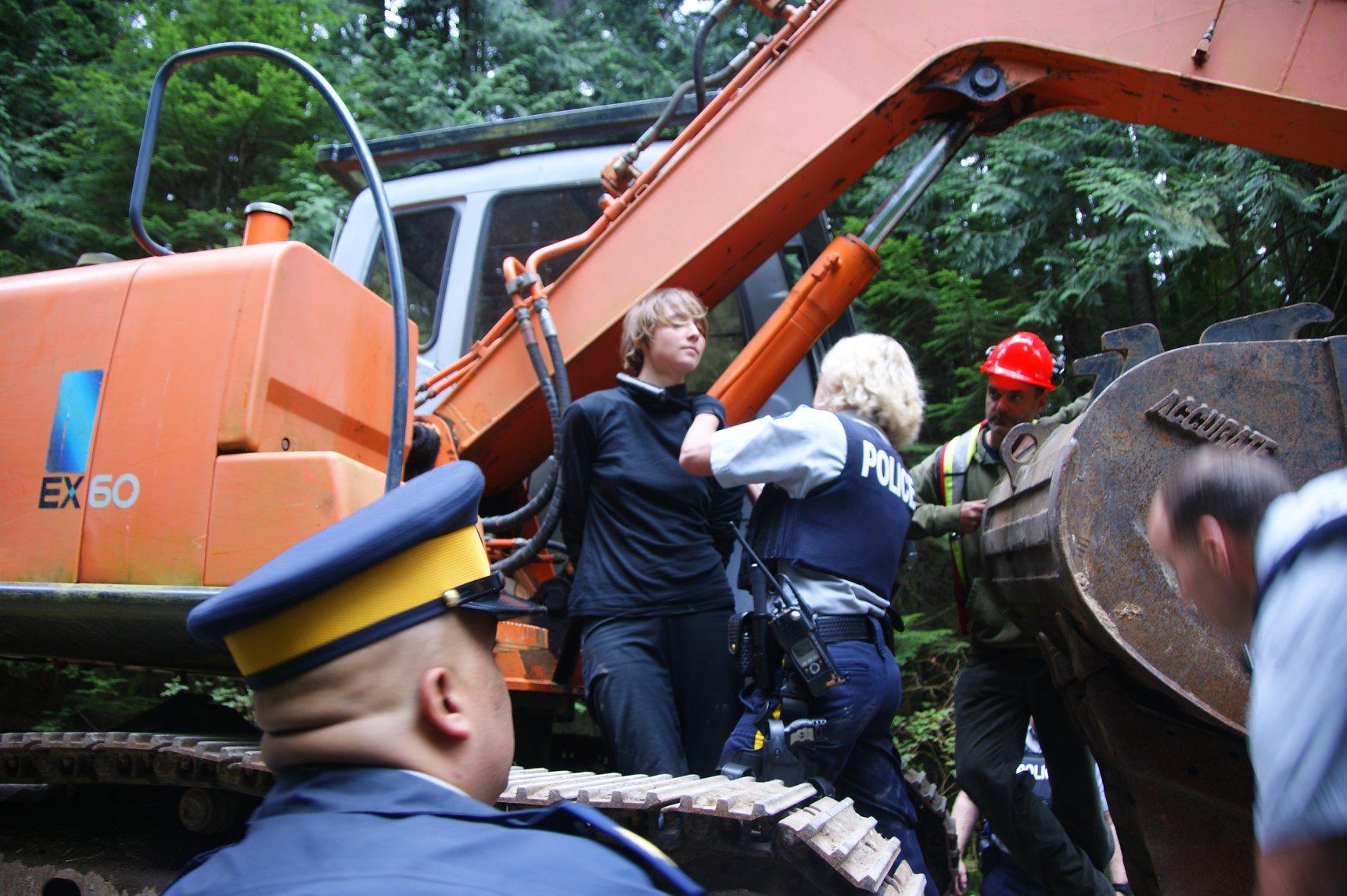 Elphinstone logging protest blockade