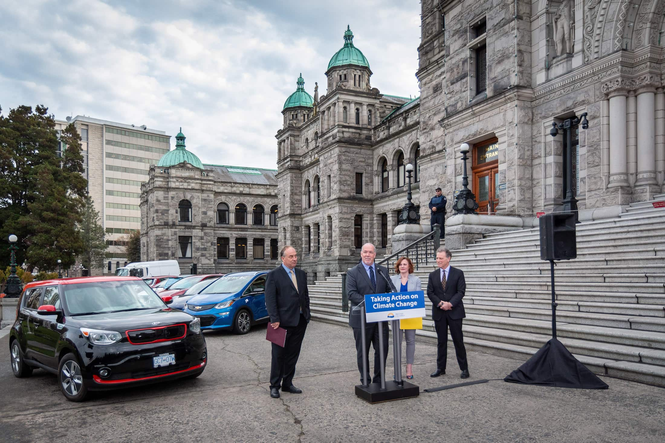 BC Electric Vehicles Announcement Horgan Heyman Mungall Weaver