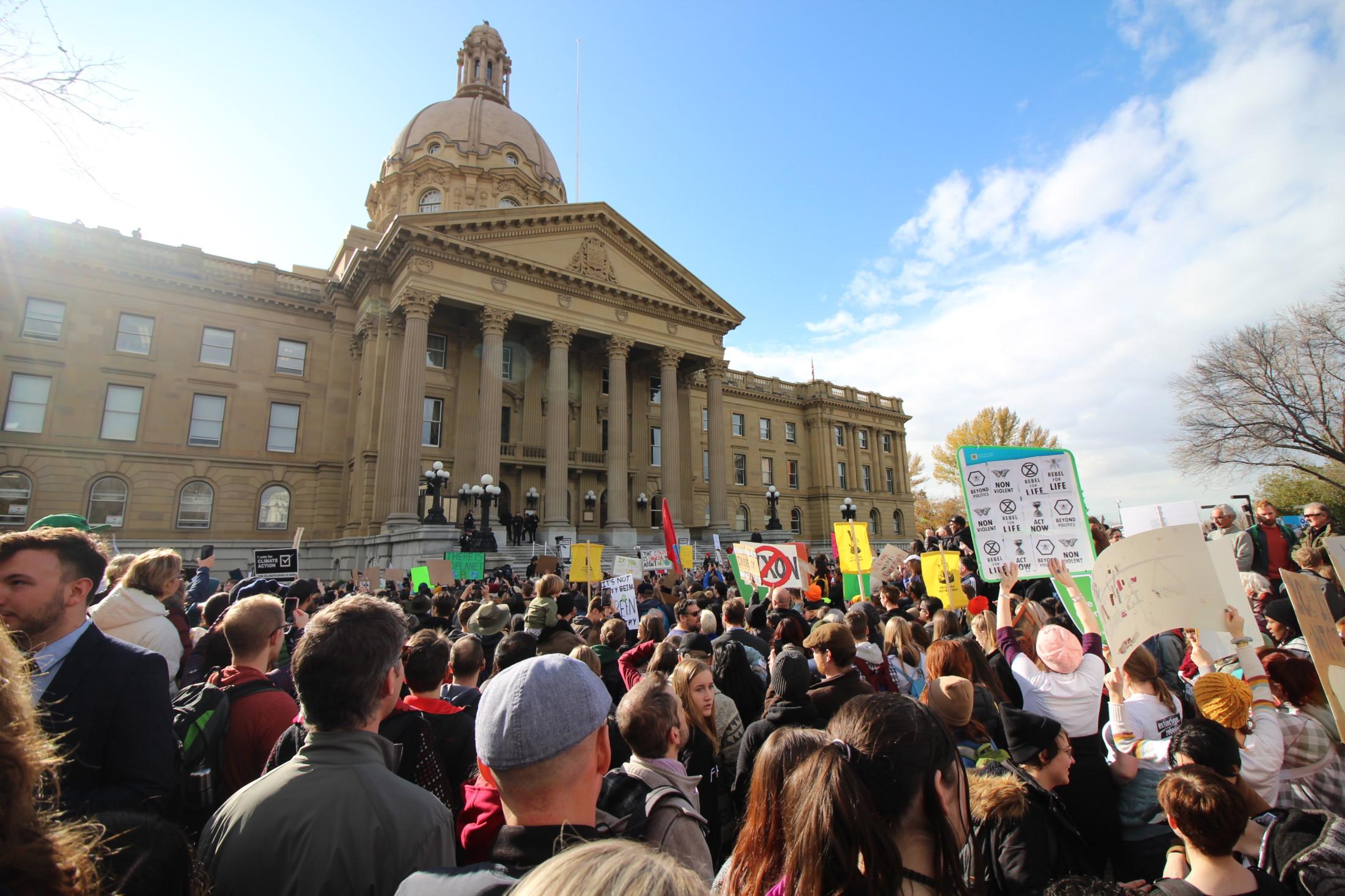 climate rally Greta Thunberg Edmonton Alberta activism