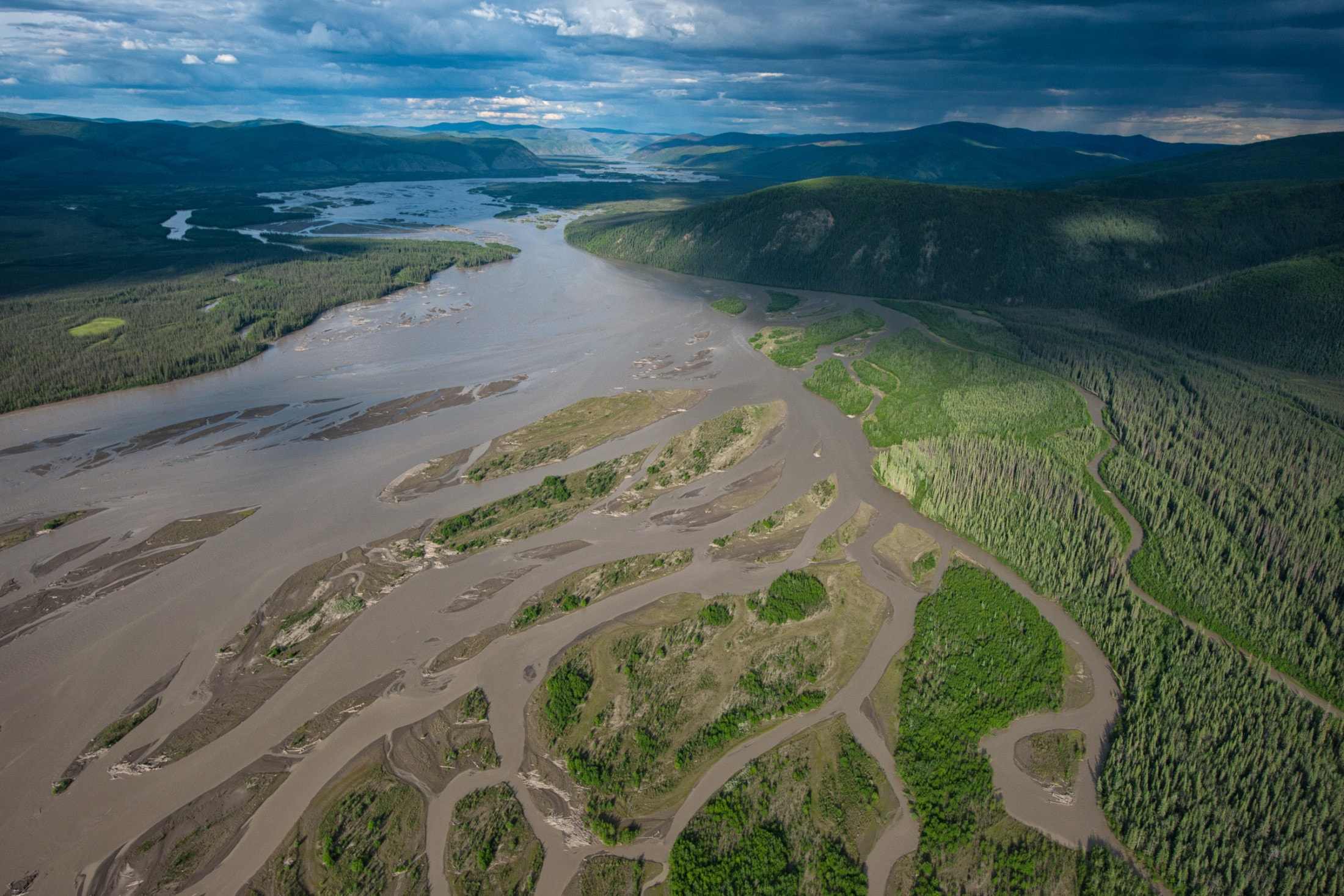 The braided channels of the Yukon River