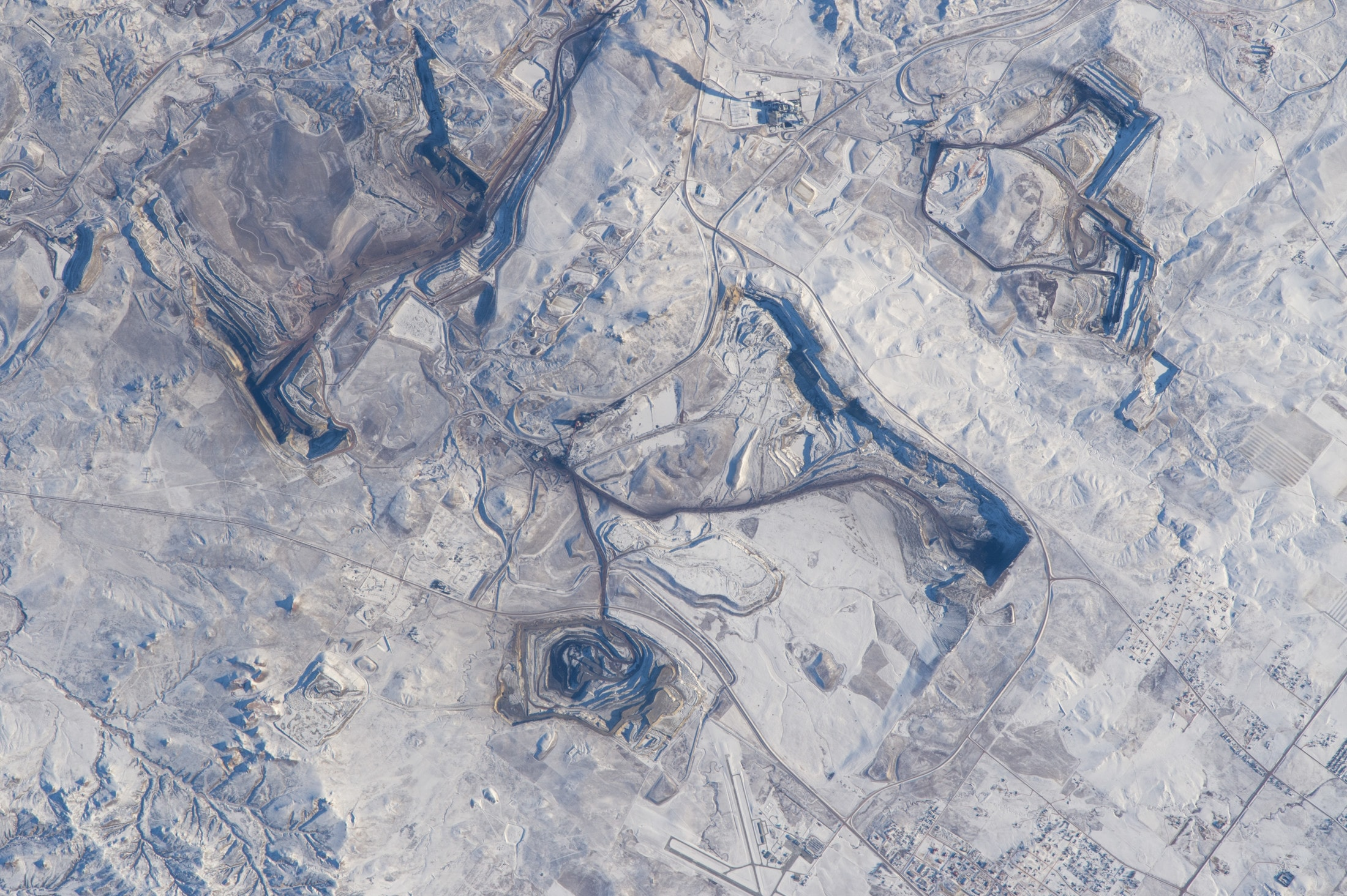 Wyoming Gilette coal pits NASA